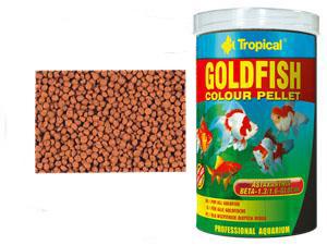Корм для золотых рыбок и карпов кои Tropical Goldfish Color Pellet 1000 ml