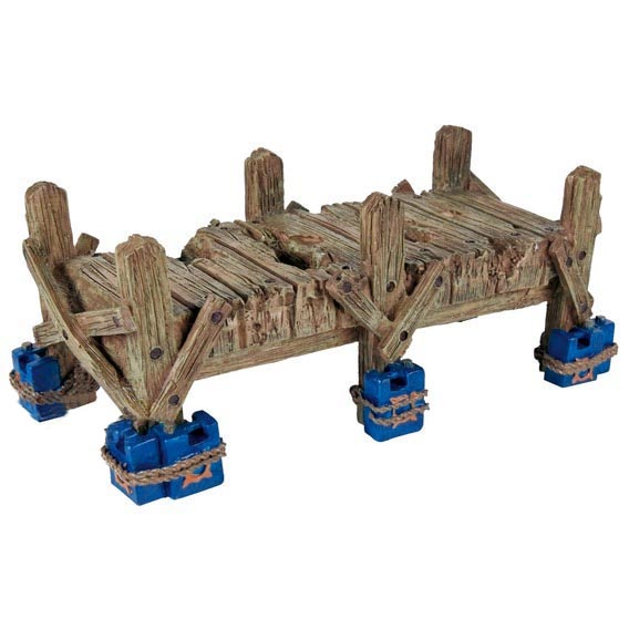 Декорация для аквариума и  террариум- мостик для рептилий 19 см