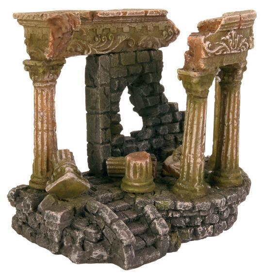 Декорация в аквариум и террариум Римские руины 13см