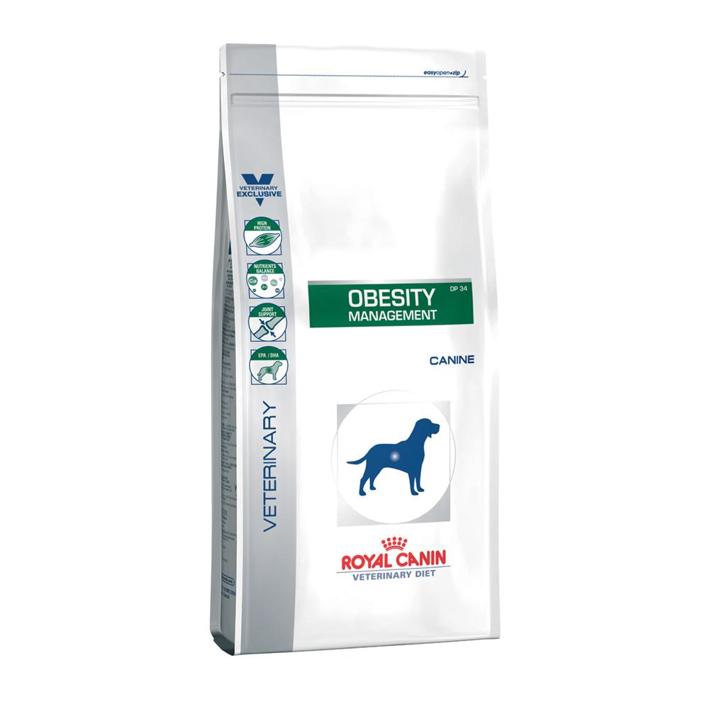 Лечебный корм Royal Canin Obesity Management DP34   14 кг