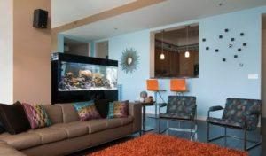 установка аквариума в квартире