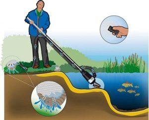 очистить пруд пылесосом