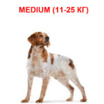 Корм для собак средних размеров от 11 до 25 кг