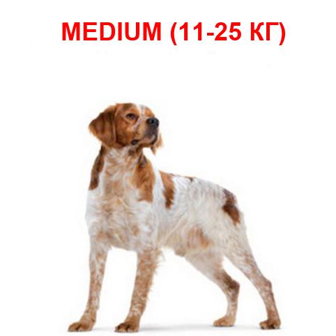 Корм для собак средних пород от 11 до 25 кг