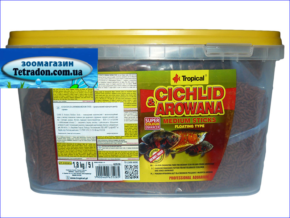 Корм Tropical Cichlid & Arowana Medium sticks