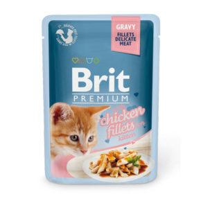 Brit Premium Кусочки из куриного филе в соусе для котят