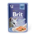 Brit Premium Кусочки из филе лосося в желе