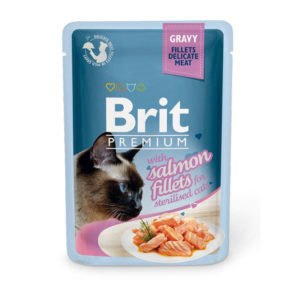 Brit Premium Кусочки из филе лосося в соусе