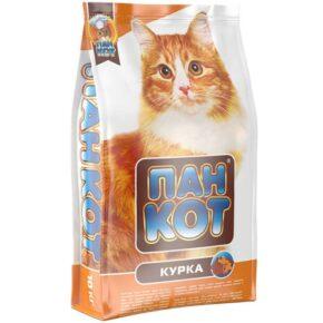 Сухой корм с курицей для взрослых кошек